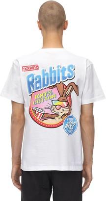 Fr2 Fxxking Rabbits FRESH PRINTED COTTON JERSEY T-SHIRT