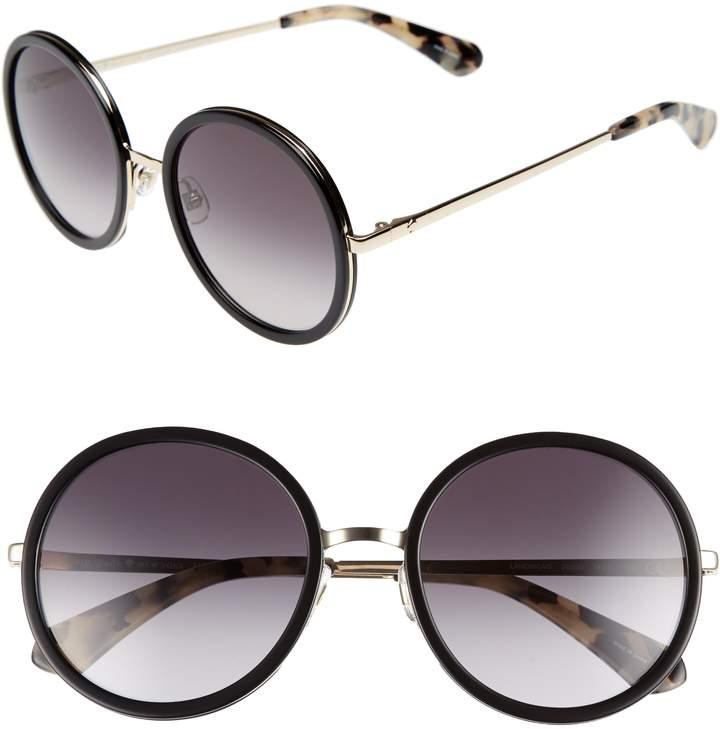 Kate Spade Lamonica 54mm Gradient Lens Round Sunglasses