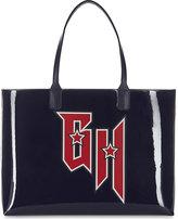 Tommy Hilfiger x Gigi Hadid patent leather tote