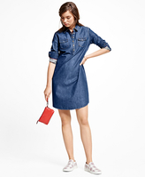 Brooks Brothers Denim Pullover Dress