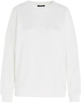 Balmain Logo Embroidered Sweatshirt
