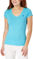 U.S. Polo Assn. Blue V-Neck Top