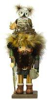 Kurt Adler Hollywood Owl Hat Woodsman Nutcracker, 16-Inch