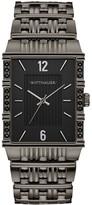 Wittnauer Men's Gunmetal Rectangular Case Diamond Watch