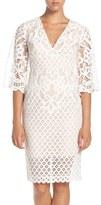 Bardot Women's 'Charlie' V-Neck Lace Sheath Dress