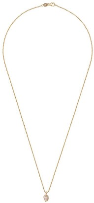 Anita Ko 18kt Yellow Gold Small Palm Leaf Pendant Necklace