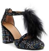 Bettye Muller Caitlin Boucle Faux Fur T-Strap Pump
