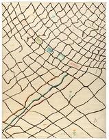 """Solo Rugs Moroccan Area Rug - Beige Multi Net, 9'1"""" x 11'7"""""""