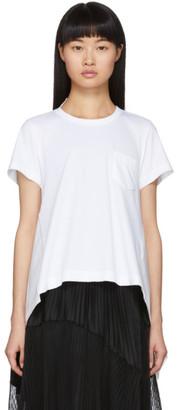Sacai White Poplin T-Shirt