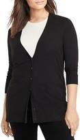 Lauren Ralph Lauren Plus Stretch Cotton-Blend Cardigan
