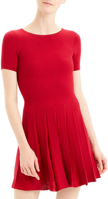 Theory Prosecco Pleated Tee Dress