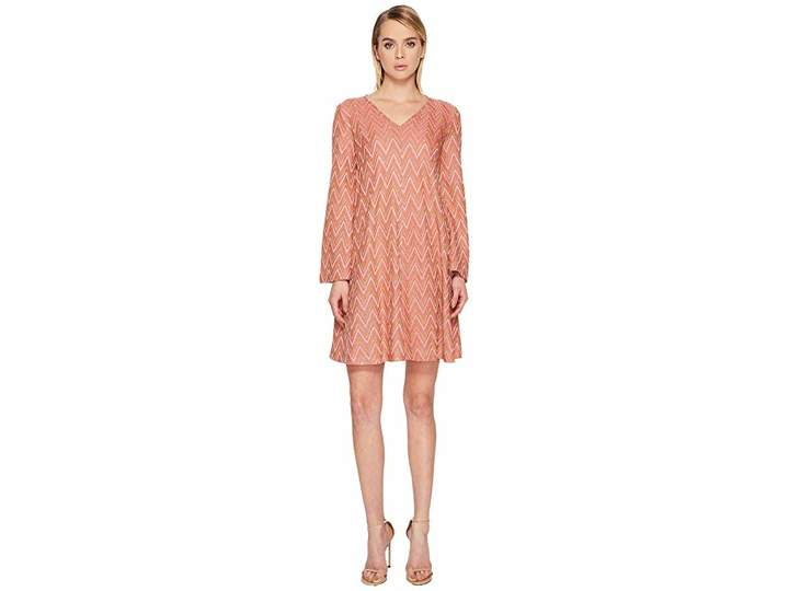 M Missoni Lurex Jersey Zigzag Dress Women's Dress