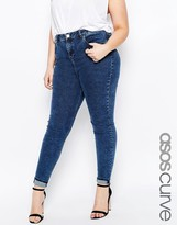 Asos Ridley Skinny Jeans in Mottled Wash