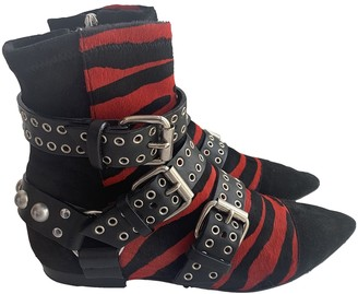 Isabel Marant Rolling Multicolour Exotic leathers Ankle boots