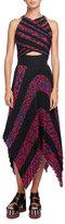 Proenza Schouler Leopard-Print Sleeveless Cutout Dress, Multi