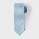 Paul Smith Men's Sky Blue Pin Polka Dot Narrow Silk Tie