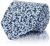Barneys New York MEN'S FLORAL SILK NECKTIE-LIGHT BLUE