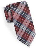 Black Brown 1826 Classic Plaid Silk Tie