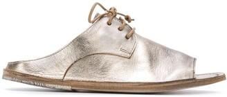 Marsèll Metallic Lace-Up Sandals