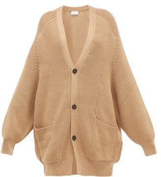 Raey Oversized Chunky-knit Wool Cardigan - Womens - Camel