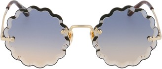 Chloé Round Scalloped Frame Sunglasses
