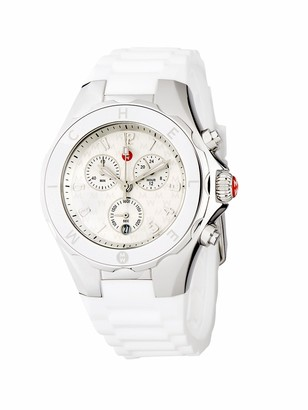 Michele Jellybean Stainless Steel Sport Silicone Strap Watch