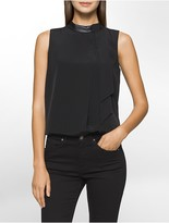 Calvin Klein Tie Neck Sleeveless Top