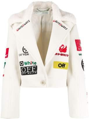 Off-White multi logo cropped jacket
