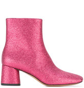 Marc Jacobs Valentine ankle boots - women - Leather/Metallized Polyester - 36