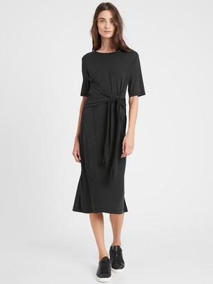 Banana Republic Petite Sandwash Modal Twist-Front Dress