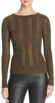 DKNY Sheer-Inset Ribbed Sweater