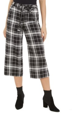 Maison Jules Printed Cropped Wide-Leg Pants, Created for Macy's