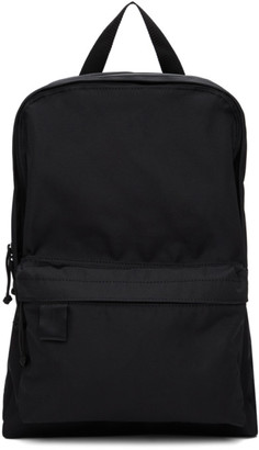 N.Hoolywood Black Nylon Canvas Backpack