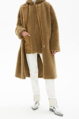 Helmut Lang Faux Fur Dickey Jacket