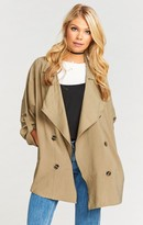 MUMU Lieutenant Army Trench Coat ~ Army Green