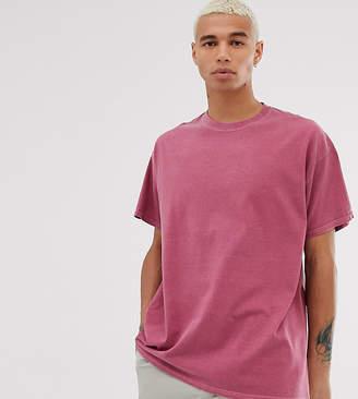 Reclaimed Vintage oversized overdye t-shirt in dusty red