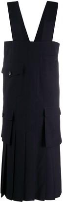 Comme des Garçons Comme des Garçons Patch-Pocket Pinafore Dress