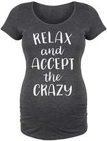 Bloom Maternity Women's Tee Shirts HEATHER - Heather Charcoal 'Accept the Crazy' Maternity Scoop Neck Tee