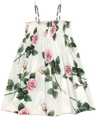 Dolce & Gabbana Floral cotton-poplin dress