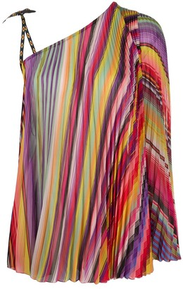 Etro Pleated Striped Top