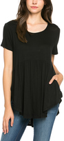Sweet Pea Black Pocket Front Babydoll Tunic