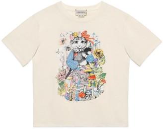 Gucci Children's Yuko Higuchi print cotton T-shirt