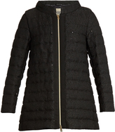 Herno Sequin-embellished bouclé quilted down coat