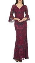 JS Collections Soutache Embroidered Trumpet Gown