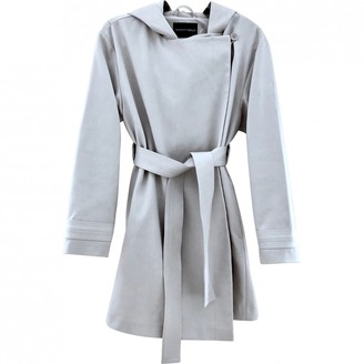 Emporio Armani Grey Cotton Coat for Women