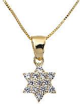 ADI Paz Crystal Star of David Pendant w/ Chain,14K Gold