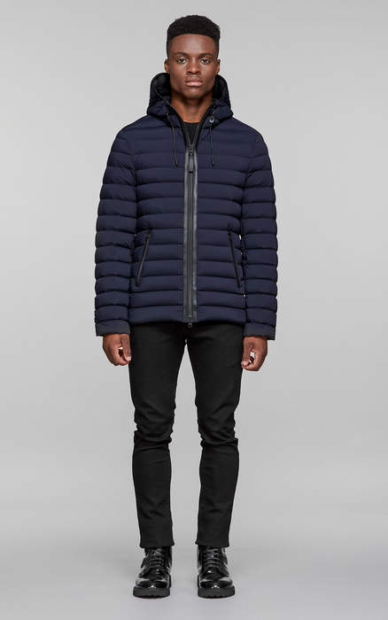 Mackage OZZY straight cut, lightweight down hooded jacket