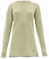 Joseph Contrasting-hem Cashmere Sweater - Womens - Light Green