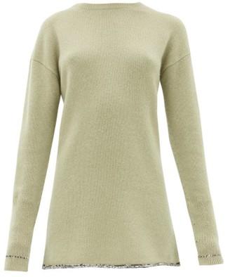Joseph Contrasting-hem Cashmere Sweater - Light Green