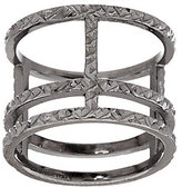Vicenza Silver As Is VicenzaSilver Sterling Diamond Cut Triple Bar Ring